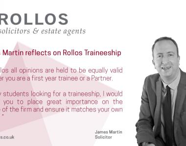 JAMES MARTIN REFLECTS ON ROLLOS TRAINEESHIP