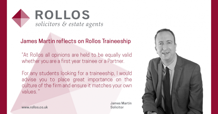 JAMES MARTIN REFLECTS ON ROLLOS TRAINEESHIP
